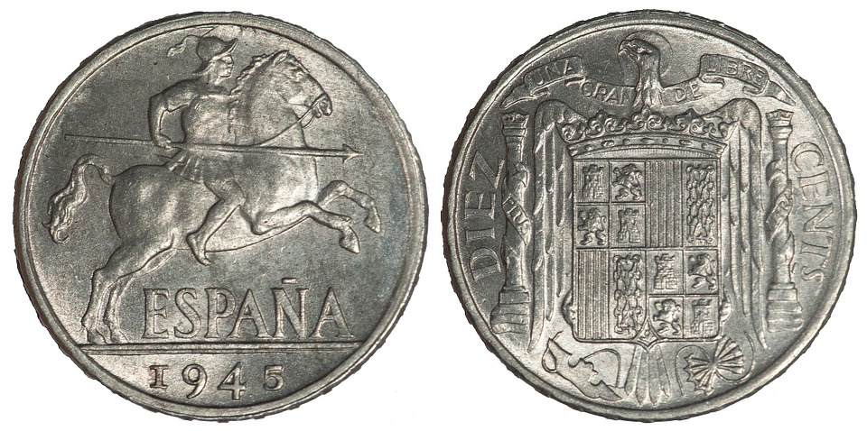 španělské pesety
