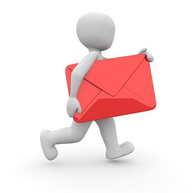 doručování dopisu